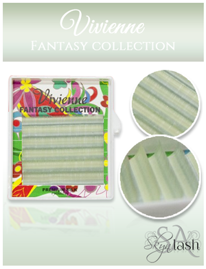 Vivienne Fantasy TEA TREE Colors .10 C CURL MIXED size 8mm - 13mm Volume Mini Trays - The Lash Shop @ StellaLash