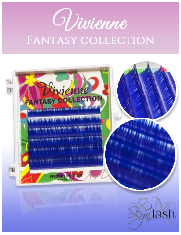 Vivienne Fantasy BOLD BLUE Colors .07 Volume Mini Trays