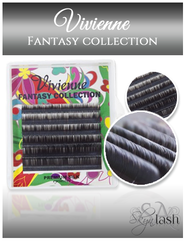Vivienne Fantasy BLACK/WHITE OMBRE 2 Colors .10 MIXED size 8mm - 13mm - The Lash Shop @ StellaLash