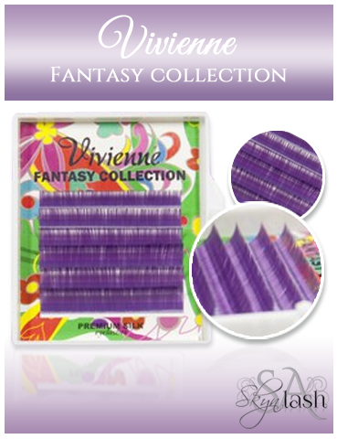 Vivienne Fantasy DARK PURPLE - BLUEBERRY Colors .10  MIXED size 8mm - 13mm Volume Mini Trays