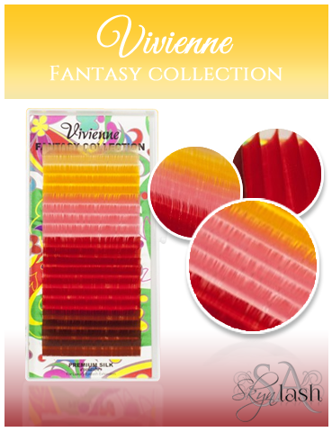 Vivienne Fantasy DESERT SUN Colors .10 C CURL fullsize single length tray 20 lines - The Lash Shop @ StellaLash