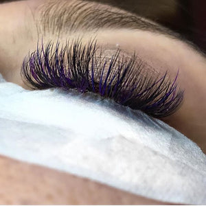 Vivienne Smart Lashes Color PURPLE Mixed Length Mini Trays - The Lash Shop @ StellaLash