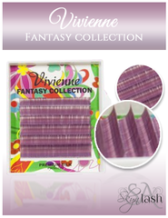 Vivienne Fantasy GRAPE Colors .10 C CURL MIXED size 8mm - 13mm Volume Mini Trays - The Lash Shop @ StellaLash