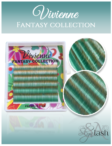 Vivienne Fantasy GREEN/BROWN OMBRE 2 Colors .10 MIX - The Lash Shop @ StellaLash