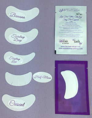Stella Lash White Eye Pads Tear Drop Low 10 Pack - The Lash Shop @ StellaLash