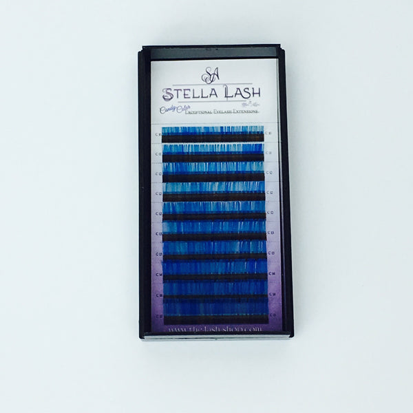 StellaLash Candy Color Lashes C .07 Mix Tray Blue Green