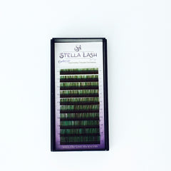 StellaLash Candy Color Lashes C .07 Mix Tray Green Brown - The Lash Shop @ StellaLash