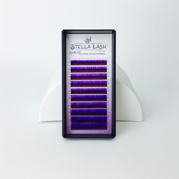 StellaLash Candy Color Lashes C .07 Mix Tray Purple Pink