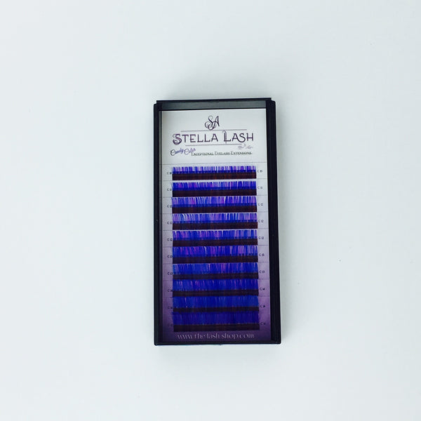 StellaLash Candy Color Lashes C .07 Mix Tray Blue Purple