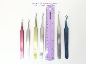 Hook Volume Tweezers in Variety of Styles - The Lash Shop @ StellaLash