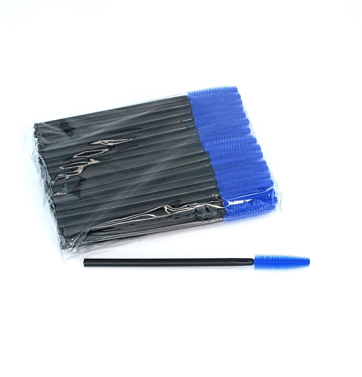 Disposable Mascara Wands Silicone BLUE - The Lash Shop @ StellaLash