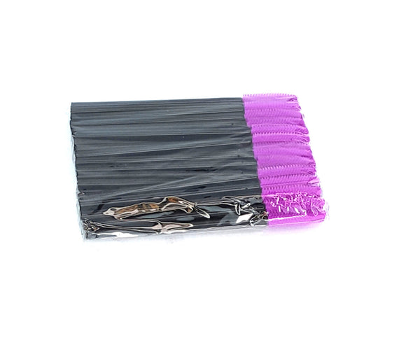 Disposable Mascara Wands Silicone MAGENTA