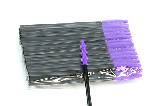 Disposable Mascara Wands Silicone PURPLE