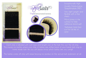 Stella .085 mixed tray B/C/D/L+ Curls - The Lash Shop @ StellaLash