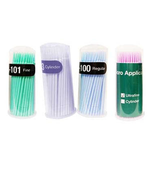 Microfiber Swabs 100 pack Cylinder, Ultra Fine, Fine, Regular - The Lash Shop @ StellaLash