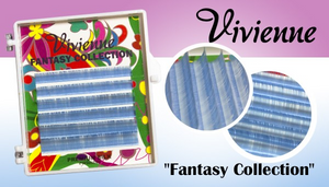 Vivienne Fantasy SKY BLUE Colors .07 Volume Mini Trays - The Lash Shop @ StellaLash