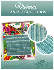 Vivienne Fantasy Collection GREEN BLUE Colors .07 Volume Mini Trays - The Lash Shop @ StellaLash