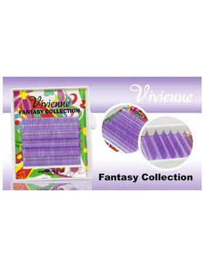 Vivienne Fantasy Lilac Colors .10 C CURL MIXED size 8mm - 13mm Volume Mini Trays - The Lash Shop @ StellaLash