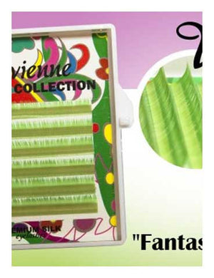 Vivienne Fantasy BRIGHT GREEN Colors .07 Volume Mini Trays - The Lash Shop @ StellaLash