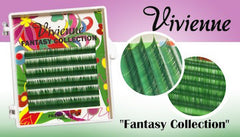 Vivienne Fantasy EMERALD GREEN Colors .07 Volume Mini Trays - The Lash Shop @ StellaLash