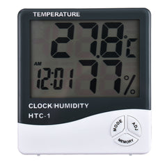 Hygrometer White with Clock & Alarm - Temperature & Humidity Reading - The Lash Shop @ StellaLash