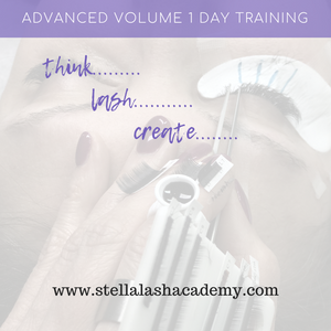 Advanced  Volume Lash Training 1 Day with Stefani - The Lash Shop @ StellaLash