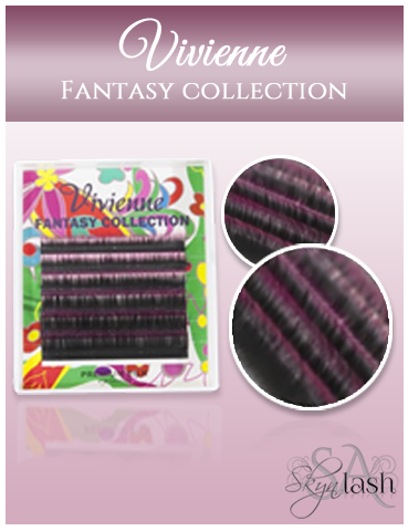 Vivienne Fantasy BLACK RASPBERRY OMBRE 2 Colors .10 MIXED size 8mm - 13mm