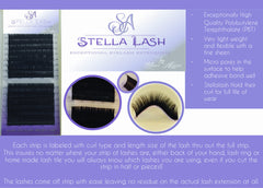 Stella .12 Mixed Trays  B/C/D/L+ Curls - The Lash Shop @ StellaLash