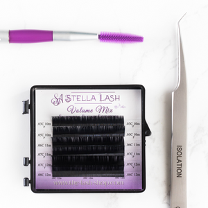 Stella Lash Volume Mix or Classic Mix Mini Trial Lash Tray - The Lash Shop @ StellaLash