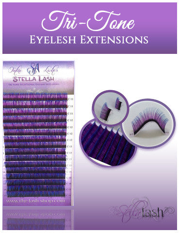 StellaLash OMBRE Tri-Tone Lashes C & D .10 mixed tray NOW IN STOCK! - The Lash Shop @ StellaLash