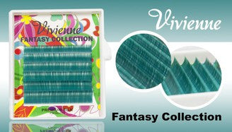 Vivienne Fantasy MORAY TEAL Colors .10 D CURL MIXED size 8mm - 13mm Volume Mini Trays - The Lash Shop @ StellaLash
