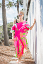 Load image into Gallery viewer, Punchy Palm Maxi Coastal Caftan