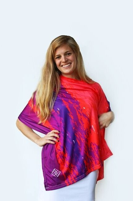 Summer Sunset Party Poncho