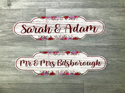 Floral Couples Sign - Made For You Gifts