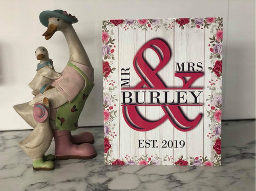 Mr & Mrs Metal Sign - Made For You Gifts