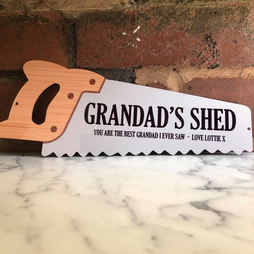 Metal Saw Sign - Made For You Gifts
