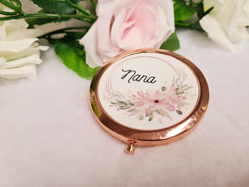 Floral Compact Mirror - Made For You Gifts