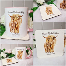 Load image into Gallery viewer, Highland Cattle Mother's Day Mug and Coaster Set - Made For You Gifts