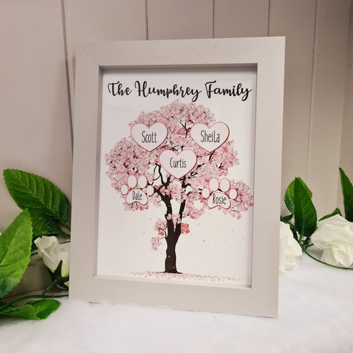 Personalised Family Tree Grey Frame