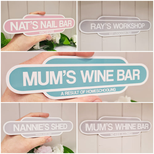Pastel Train Signs - Made For You Gifts