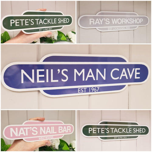 Personalised Train Sign - Made For You Gifts