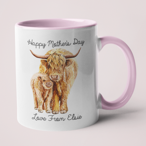 Highland Cattle Mother's Day Mug - Made For You Gifts