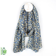 Load image into Gallery viewer, Blue recycled scarf with layered heart print