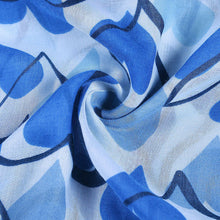 Load image into Gallery viewer, Blue heart print scarf