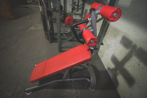 Pre-Owned Ab Crunch Bench (Red Padding) - Strengthio Fitness.