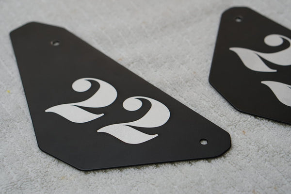 XSR900 Number Plates with Custom Laser Engraved Number Service