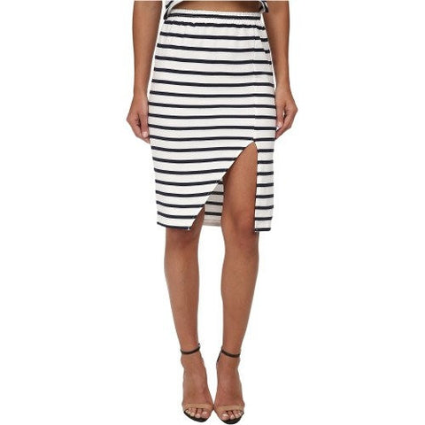Stripe Maxi Split Skirt - MINKPINK