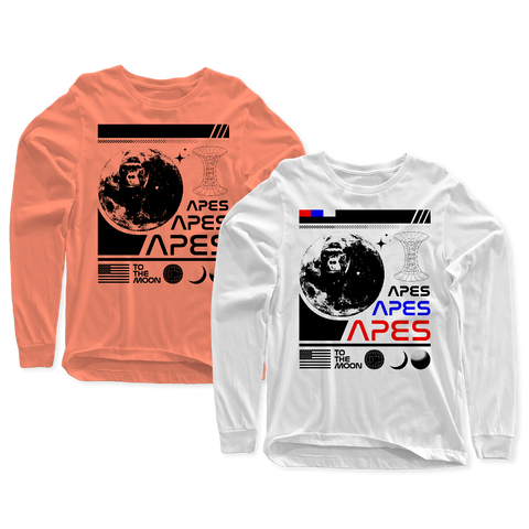 Apes Nasa Long Sleeve T Shirt