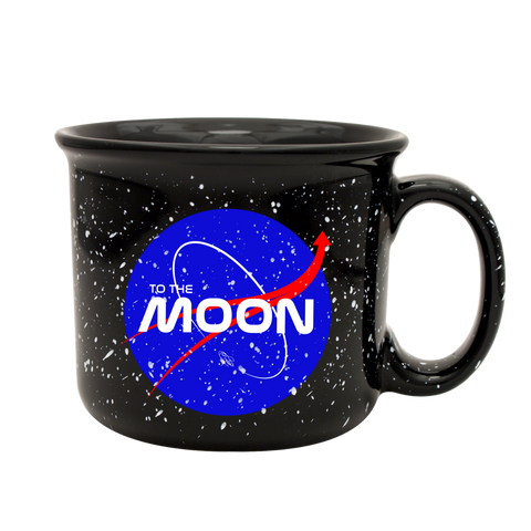 To The Moon Nasa Speckled Mug