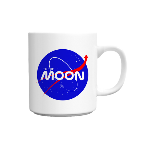 To The Moon Nasa White Mug